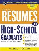 Resumes for High School Graduates, 3e