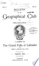 The Bulletin Of The Geographical Society Of Philadelphia Book PDF