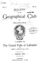 The Bulletin of the Geographical Society of Philadelphia