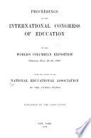 Addresses And Proceedings National Education Association Of The United States