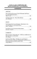 Santa Clara Computer and High technology Law Journal Book