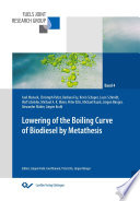 Lowering of the boiling curve of biodiesel by metathesis Book