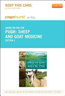 Sheep and Goat Medicine   Pageburst E Book on Kno  Retail Access Card