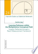 Learning Pathways within the Multiplicative Conceptual Field