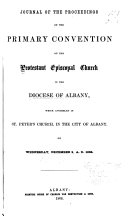 Journal of the Proceedings of the Annual Convention of the Protestant Episcopal Church in the Diocese of Albany