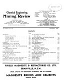 Chemical Engineering and Mining Review