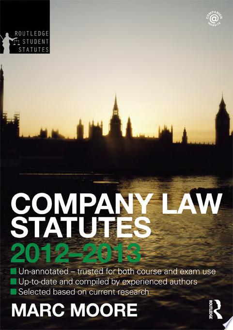Company Law Statutes 2012 2013