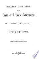 Annual Report Iowa State Commerce Commission