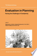 Evaluation In Planning Book PDF