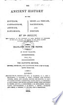 The Ancient History of the Egyptians     The Eleventh Edition  Etc