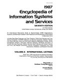 Encyclopedia Of Information Systems And Services International Listings