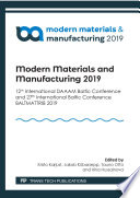Modern Materials and Manufacturing 2019