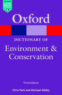A Dictionary of Environment and Conservation Pdf/ePub eBook