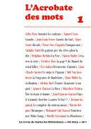 L'Acrobate des mots n°1 - Eté 2013