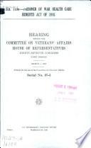 H.R. 1100--Prisoner of War Health Care Benefits Act of 1981