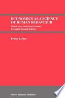 Economics as a Science of Human Behaviour