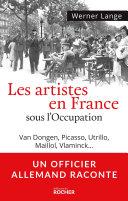 Pdf Les artistes en France sous l'Occupation Telecharger