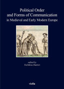 Pdf Political Order and Forms of Communication in Medieval and Early Modern Europe Telecharger