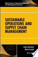 Sustainable Operations and Supply Chain Management Book
