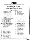 The ... American Marketing Association International Member & Marketing Services Guide