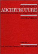 Encyclopedia of Architecture  Tabler  William B  to Zoos