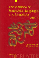 The Yearbook of South Asian Languages and Linguistics 2006