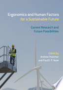Ergonomics and Human Factors for a Sustainable Future Book