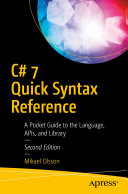 C  7 Quick Syntax Reference