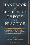 Handbook of Leadership Theory and Practice Pdf/ePub eBook