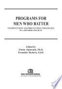 Programs For Men Who Batter Book PDF