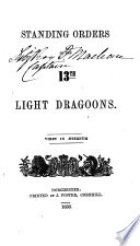 Standing Orders of the 13th Light Dragoons