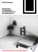 Programme und Manifeste zur Architektur des 20. Jahrhunderts