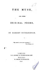 The Muse  and Other Original Poems