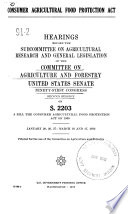 Consumer Agricultural Food Protection Act