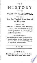 The History Of The Works Of The Learned Book PDF