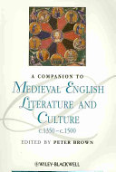 A Companion To Medieval English Literature and Culture C 1350   C 1500