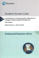 Introduction to Communication Disorders Access Code Card