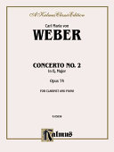 Clarinet Concerto No. 2 in E-Flat Major, Op. 74 (Orch.): Part(s)