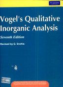 Vogel's Qualitative Inorganic Analysis, 7/e