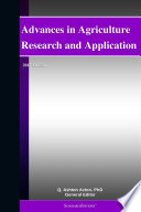 Advances in Agriculture Research and Application  2012 Edition Book