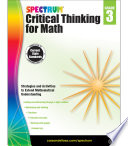 Spectrum Critical Thinking for Math  Grade 3