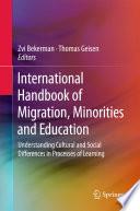 International Handbook Of Migration Minorities And Education