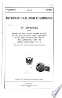 An Appendix to the Report of the United States Section of the International High Commission on the First General Meeting of the Commission, Held at Buenos Aires, April 3-12, 1916