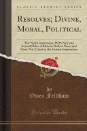 Resolves Divine Moral Political