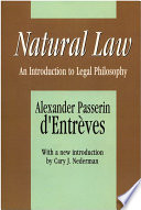 Natural Law  : An Introduction to Legal Philosophy