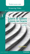 Learn to Listen  Listen to Learn 1 Streaming Video Access Code Card