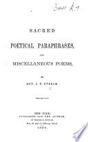 Sacred Poetical Paraphrases  and Miscellaneous Poems