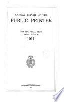 Annual Report Of The Public Printer