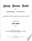 The Internal Revenue Record And Customs Journal