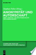 Anonymität und Autorschaft